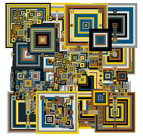 Von Algorithmen erstellte Kunst. Don Relya, donrelyea.com