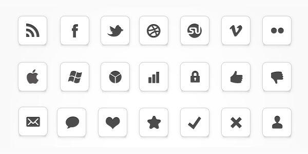 (2) minimale Logos als Hintergrund