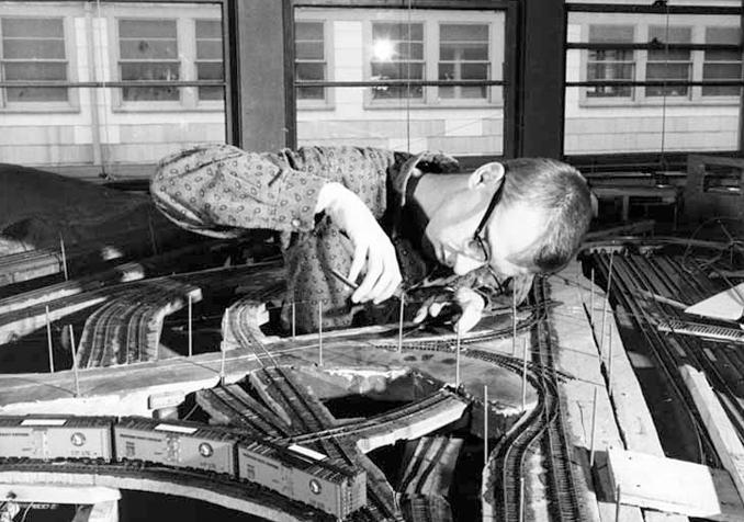 Hacker des Tech Model Railway Club am MIT, 1950er-Jahre.