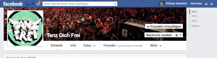 Tanz dich frei - FB-Präsenz