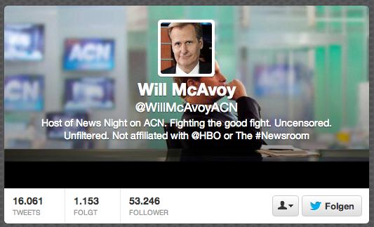 Will McAvoy ist der Protagonist der Fernsehserie »Newsroom«.