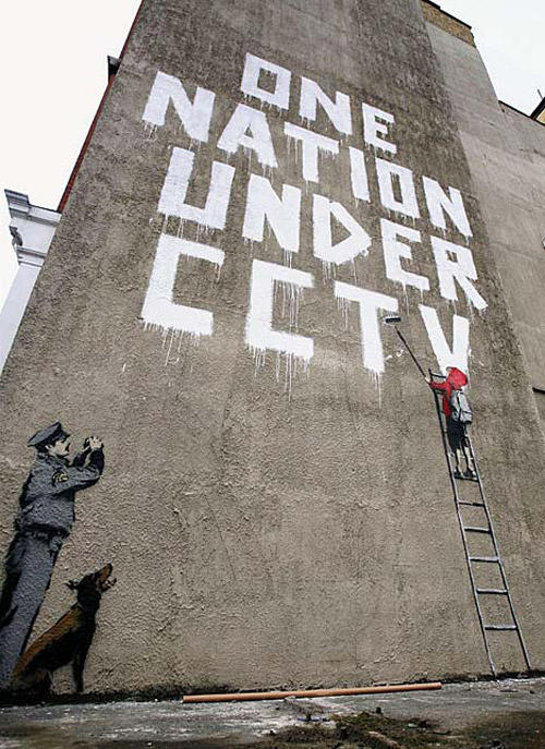Banksy: One Nation under CCTV.