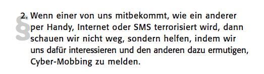 Auszug aus dem Cybermobbing-Guide von Klicksafe.de.
