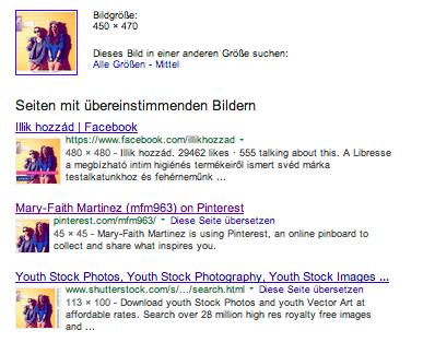 Google findet Profile, die mit einem Bild einer Agentur versehen sind.