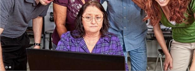Symptomatisch: Der Gesichtsausdruck der Lehrerin.