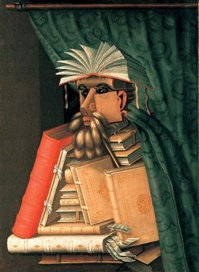 Giuseppe Arcimboldo: The Librarian (1566)