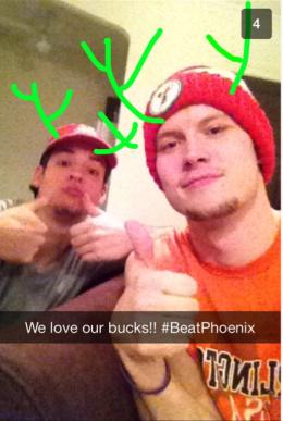 Fans der Milwaukee Bucks, einem Basketball-Team in den USA.