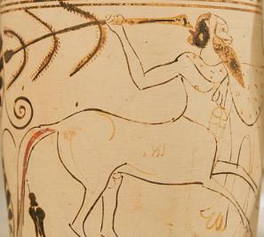 Zentaur auf einer griechischen Vase, 500 v.Chr.