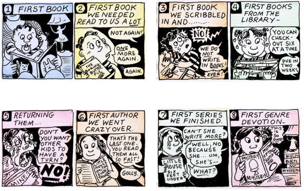 Lynda Barry: The 20 Stages of Reading.