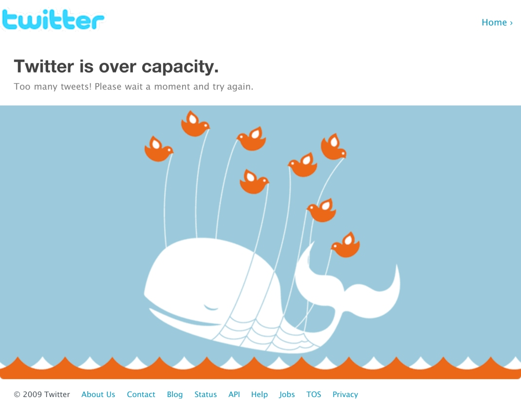Twitter _ Over capacity